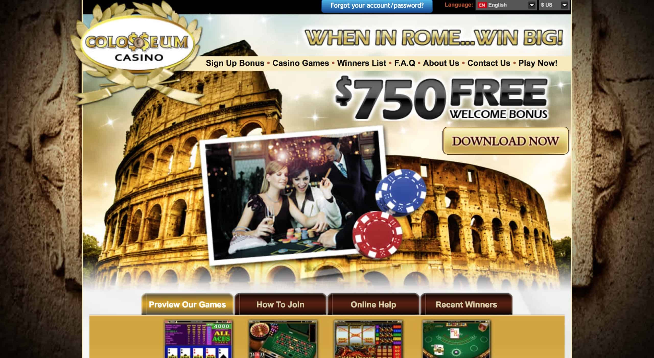 Colosseum Casino review: what dpes Microgaming mean?